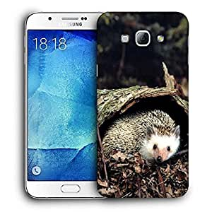 Snoogg Animal Under Tree Printed Protective Phone Back Case Cover For Samsung Galaxy A8