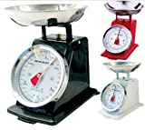 NEW 3KG TRADITIONAL WEIGHING KITCHEN SCALE BOWL RETRO SCALES MECHANICAL VINTAGE (BLACK)