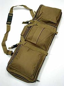 "Airsoft 33"" Dual Rifle Carrying Case Gun Bag Coyote Brown #B"