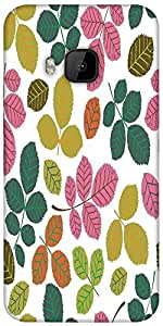 Snoogg Seamless Pattern With Leaf Designer Protective Back Case Cover For HTC M9