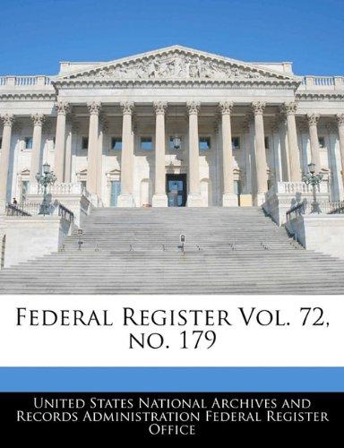 Federal Register Vol. 72, no. 179