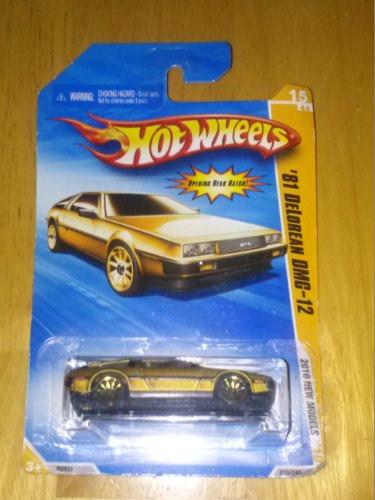 Hot Wheels 2010-015/240 New Models 15/44 '81 Delorean DMC-12 GREENISH-Gold Color Variation 1:64 Scale - 1