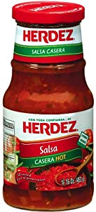 Herdez Salsa Casera Hot 16-ounce 12 Pack by Herdez