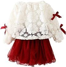 SOFIRE Baby Girls39 Dress Long Sleeve Lace Princess Tutu Dress