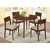 Monarch Modern Veneer Dining Table, 42-Inch Diameter, Oak