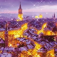 めざせ!パズルの達人 1000ピース 雪降るベルンの街-スイス 11-423