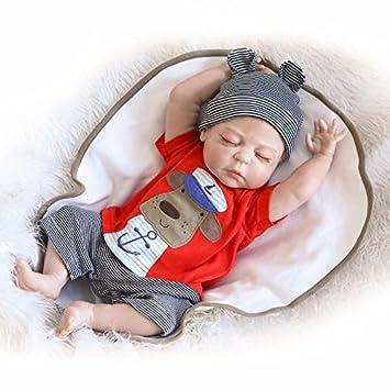 Nicery Reborn Baby Doll Réincarné bébé Poupée Difficile Simulation Silicone Vinyle 22 pouces 55cm Bouche Magnétique qui semble vivant Imperméable Garçon Fille Jouet Boy Girl RD56Z013BC