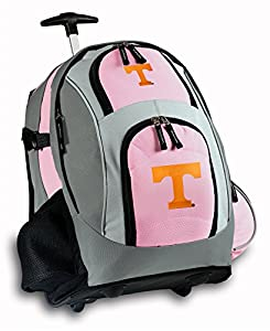 University of Tennessee Rolling Backpack Deluxe Pink Tennessee Vols Logo Backpa