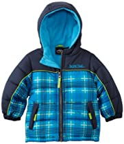 Pacific Trail - Kids Baby-Boys Infant Plaid Puffer Jacket, Navy, 24 Months