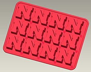 Nebraska Silicone Ice Tray Candy Mold (2 Pack) by Bakins Silicone Ice Trays