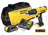 Dewalt 18v XR Cordless Lithium Combi Drill & Driver, With Hammer Action Facility Complete With Lithium Battery, Fast Charger & Canvas Carry Bag.