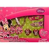 Minnie Mouse Best Friends Set Rings Hair Snap Clips & Bracelets