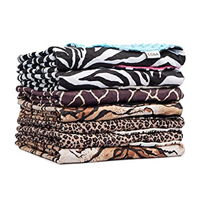 Animal Print Minky Dot Baby Blanket from Totzuu