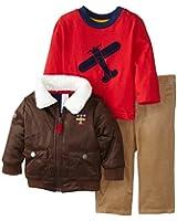 Little Me Baby Boys' Aviator 3 Piece Jacket Set
