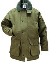 Mens Dark Green Tweed Waterproof Breathable Country wear Jacket Kids Coat by WWK / WorkWear King