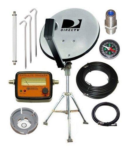 DirecTV 18 Dish Portable Satellite Kit for RV Camping Tailgating with Meter