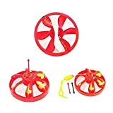 PIXNOR Cool Infrared Sensor Mini Flying Saucer UFO Hand Induced Hovering and Floating Flight with LED Lights (Red)