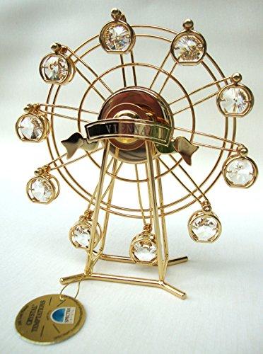 """'Swarovski Components-CRYSTAL TEMPTATIONS-Ruota panoramica """"Vienna in oro-cristalli Swarovski-24carati placcata-antiappannante-dimensioni: 14cm x 16cm"""