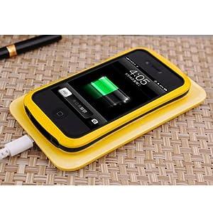 Qi Chargeur Transmetteur sans fil Charging Pad / Tapis pour Nokia Lumia 920 Nexus 4/5 jaune