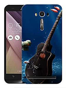 "Humor Gang Guitar Underwater Printed Designer Mobile Back Cover For ""Asus Zenfone 2"" (3D, Matte, Premium Quality Snap On Case)"