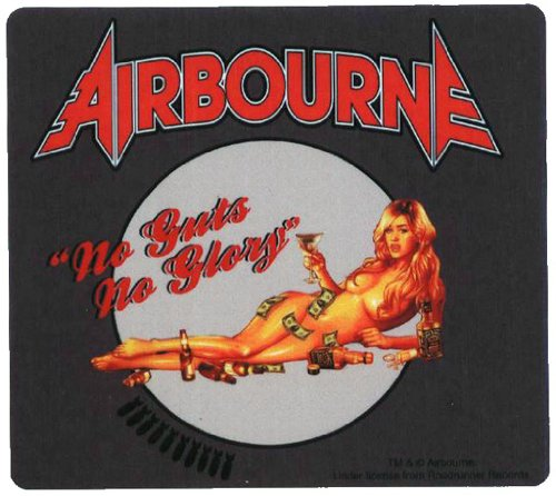 AIRBOURNE Aufkleber BLONDE Sticker Wetterfest 10,5 x 9,5 cm