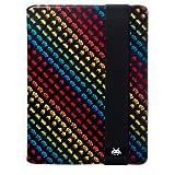 Case Scenario SPACE INVADERS Nubuk Standing Book Case for iPad Black & Colour