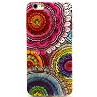 For Iphone 6 case, Let it be Free Aztec Tribal Pink Flower Clear Bumper TPU Soft Case Rubber Silicone Skin Cover for Iphone 6 4.7 Inch Screen (Not for Iphone 6 Plus) by Let it be Free