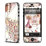Paris Makes Me Happy Design Protective Decal Skin Sticker (Matte Satin Coating) for Apple iPhone 5 16GB 32GB 64GB Cell Phone