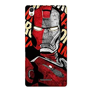 Cute Introduction Man Back Case Cover for Sony Xperia T3