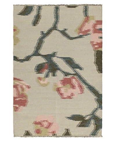 Oak Rugs Hand-Woven Natural Wool Kilim, Cream, 4' 7 x 6' 8