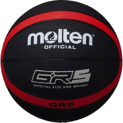 molten(몰 텐)GR5 고무 농구 5 호공 블랙×레드 BGR5KR 블랙×레드- (Size:5호)