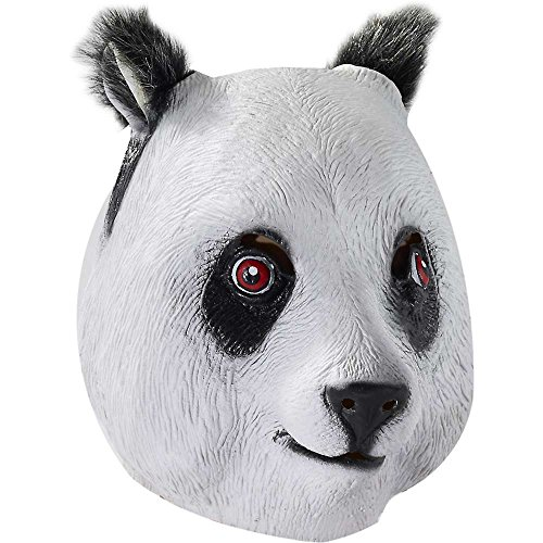 Deluxe Latex Panda Bear Mask - One Size