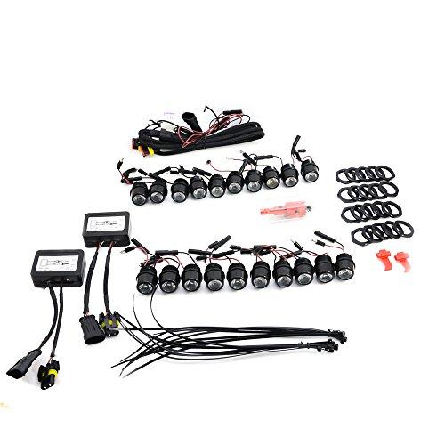 Lightec24 ® feux de circulation diurnes à lED avec variateur d'intensité 20 modules de 20 lEDs partir de 2011
