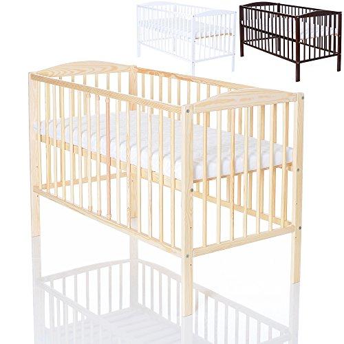 Lcp kids baby kinderzimmer holz gitterbett 120x60 cm tami for Einrichtung kinderzimmer baby