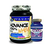 Advance BCAA 100gm Unflavoured& ADVANCE 100% WHEY 25gm Protein Per 33gm 1kg Vanilla (Combo Offer)