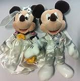 ウェディングバージョン ミッキーマウス&ミニーマウス ペアぬいぐるみバッジ  ディズニーリゾート限定