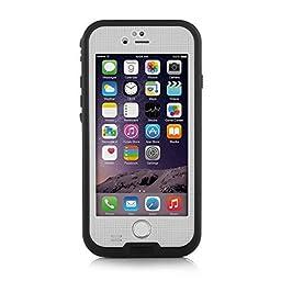 Merit iPhone 6 Plus/6s Plus Waterproof Case, [New Version] Snowproof Dirtproof Shock-Resistant Protective Case Cover for iPhone 6 Plus/6s Plus 5.5 inch (White)
