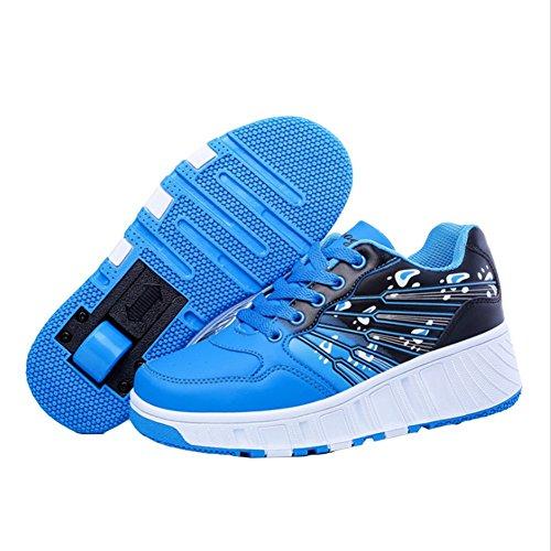 Teckey-los-Polea-Zapatos-Zapatillas-de-skate-automtica-de-prrafos-sola-ronda-para-nios