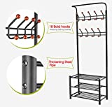 Yaheetech Metal Multi-purpose Coat Stand With Hanging Hooks (Black)