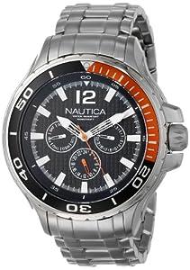 Nautica N22617G - Reloj de pulsera hombre, acero inoxidable, color multicolor