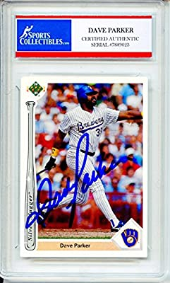Dave Parker Autographed Milwaukee Brewers Encapsulated Trading Card