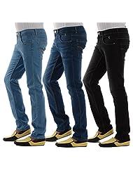 London Jeans Men's Slim Fit HIGH FASHION STRETCH Jeans (Set Of 3)