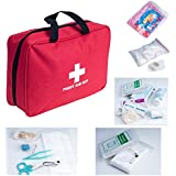Weanas® Outdoor First Aid Kit Bag 200 pieces Portable for Camping Hiking Boating Fishing Hunting