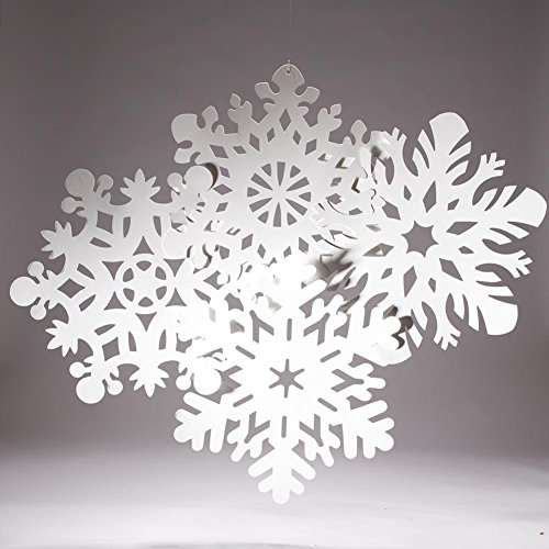 Snowflake Cutouts-Pack of 4 (14-14.5 inches)