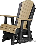 Outdoor Polywood 2 Foot Porch Glider - Adirondack Design *WEATHERWOOD/BLACK* Color