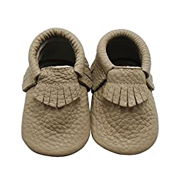 Mejale Baby Soft Soled Leather Fringe Infant Toddler Shoe First Walker,XL,GREY