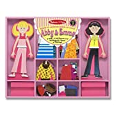 Melissa & Doug - Abby & Emma Deluxe Magnetic Dress-Up Set