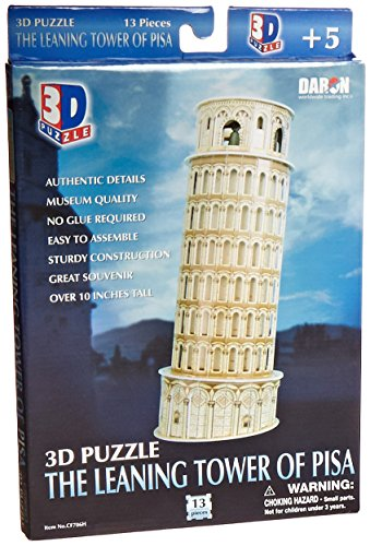 Daron Leaning Tower of Pisa 3D Puzzle, 13-Piece