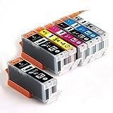 CANON / キヤノン キャノン 純正互換インクカートリッジ インクタンク BCI370XL (BK ブラック) + BCI371XL (BK ブラック/ C シアン/ M マゼンダ/ Y イエロー/ GY グレー) 6色マルチパック (大容量) +BCI370XL (BK ブラック)1本 残量表示機能対応 ICチップ付 安心保証1年 eBARONGオリジナル PIXUS MG7730F, PIXUS MG7730, PIXUS MG6930