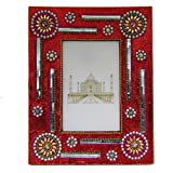 Antique Photo Frame Indian Gift Home Decor Table Top Handmade Lac Beaded Picture Frame Vintage Style Antique Photo...